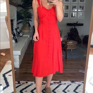 Vici red midi dress